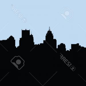 Vector Building Detroit: Miami And Detroit Famous City Scapes Gm