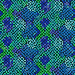 Rattlesnake Skin Vector: Photostock Vector Snake Skin Seamless Vector Texture Blue And Green Tone Colors Snake Pattern Ornament For Textile Fab