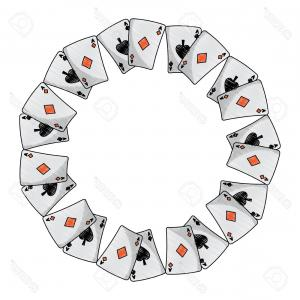 Playing Card Design Vector Illustration: Photostock Vector Spades Diamonds Suits French Playing Cards In Circle Icon Icon Image Vector Illustration Design