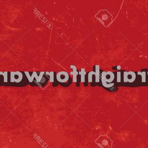 Vector Straightforward: Photostock Vector Straightforward Vector Word On Red Concrete Wall