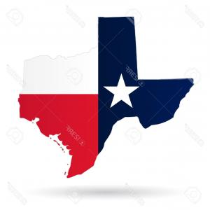 Texas American Flag Vector: Stock Illustration Map State Of Texas In