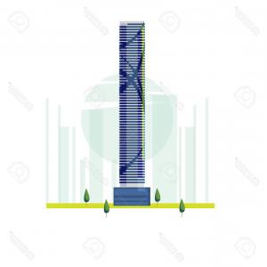 Famous Skyscraper Vectors: Photostock Vector The Infinity Tower Brisbane Australia Famous Building Vector Illustration
