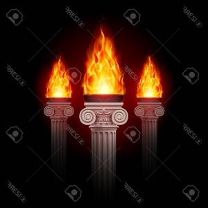 Flame Vector For Tre: Stock Illustration Long Shadow Vector Flame Icon