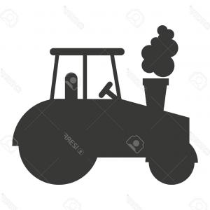 Tractor Silhouette Vector Art: Photostock Vector Tractor Farm Isolated Icon Design Vector Illustration Graphic