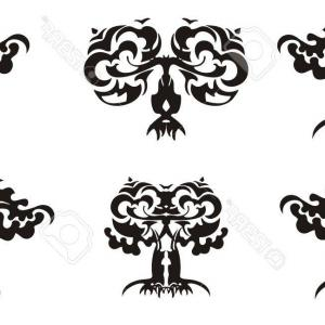 Tribal Vector Art Trees: Photostock Vector Tree Of Life Tattoo Art Geometrical Style Mystic Tribal Symbol Future And The Past Symbol Of Life An