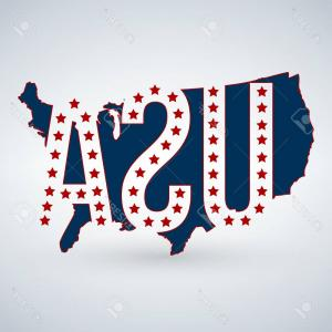 Vector S 50 Pics: Photostock Vector Us Logo Or Icon With Usa Letters Across The Map And Stars United States Of America Vector Illustr