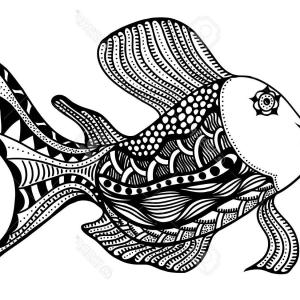 Fish Vector Graphic: Stock Illustration Smiling Fish Vector Graphic Linear