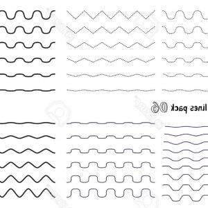 Vector Horizontal Line: Photostock Vector Vector Big Set Of Wavy Curvy And Zigzag Criss Cross Horizontal Lines With Different Bend Graphic Des