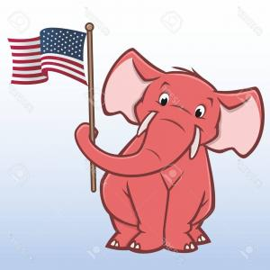 Republican Elephant Vector: American Elections Icon Set Republican Elephant Vector