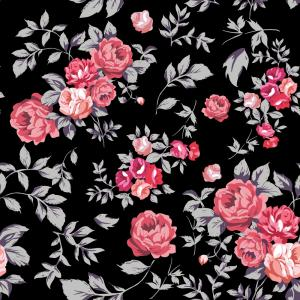 Pink Black Vector: Photostock Vector Vector Illustration Of Pink Black And White Romantic Butterfly Seamless Pattern