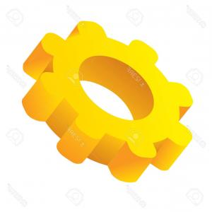 Vector Image Of A Gear On Its Side: Photostock Vector Vector Illustration Of Setting Icon Gear From Side View Isolated On White