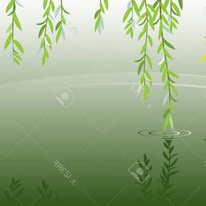 Vector Natural Willow: Stock Illustration Easter Pattern With Willow Tree
