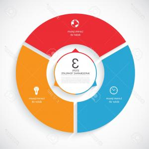 Round Templates Vector: Photostock Vector Vector Infographic Circle Template For Graph Cycling Diagram Round Chart Workflow Layout Number Opti