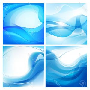 Water Flow Vector: Water Frame Transparent Splash Flow Circle