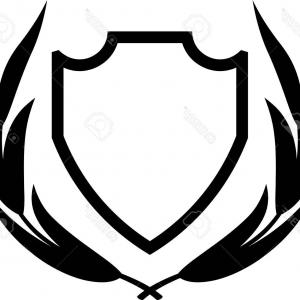 White Shield Vector: Photostock Vector Vector Shield And Laurel Wreath Isolated