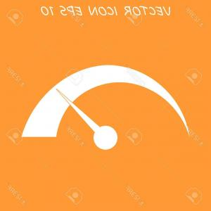 Speedometer Vector Illustrator: Vector Speedometer Icon Flat Illustrator Eps