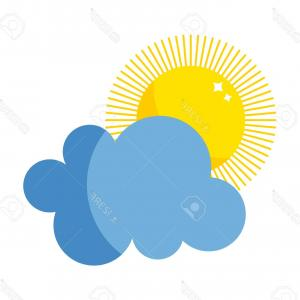 Christian Vector Sun: Photostock Vector Vector Sun And Cloud Icon Isolated On Background Sun Weather Isolated Summer Icon Design Vector Yell