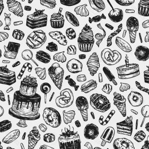 Black And White Candy Vector: Candies Collection In Black And White Gm