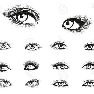 Vector Illustration Eyes Makeup: Eye Makeup Halloween Vector Illustration On