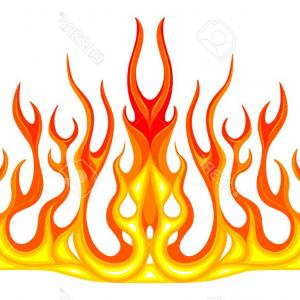 Car Flame Vectors EPS: American Muscle Drag Car With Flame Graphics Vector Clipart