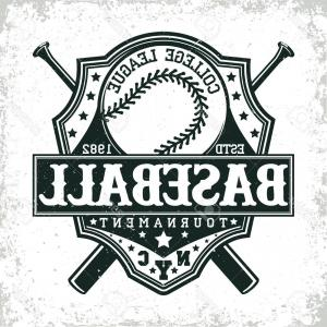 Baseball Shirt Banner Vector Art: Awesome Hockey Tshirt Logo Design For