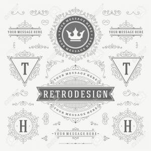 Free Vintage Vector Ornaments: Photostock Vector Vintage Vector Ornaments Decorations Design Elements Flourishes Calligraphic Combinations Retro For