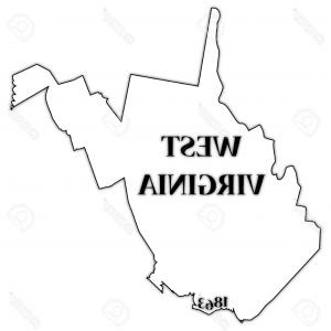 West Virginia Logo Vector: Abstract Outline Of West Virginia Map Gm
