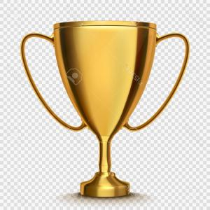Gold Trophy Vector: Gold Cup Trophy Vector Illustration