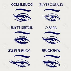 Vector Illustration Eyes Makeup: Photostock Vector Woman Eyes Makeup Vector Illustration Ballpoint Pen Eyeliner Set