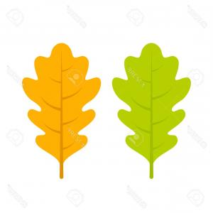 Oak Leaf Vector Clip Art: Autumnal Seamless Colorful Pattern With Oak Leaves Vector Clipart