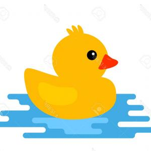 Cartoon Duck Vector: Stock Illustration Cartoon Flying Duck Vector Illustration White Image