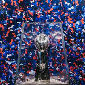 Super Bowl XLVIII Trophy Vector: Photonew York January Denver Broncos Team Uniform Presented On Broadway During Super Bowl Xlviii Week