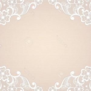 Vintage Lace Vector: Phototemplate Frame Design For Card Vintage Lace Doily
