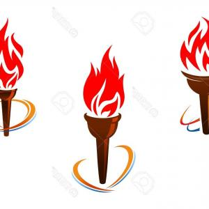 Flame Vector For Tre: Abstract Fire And Ice White Vector