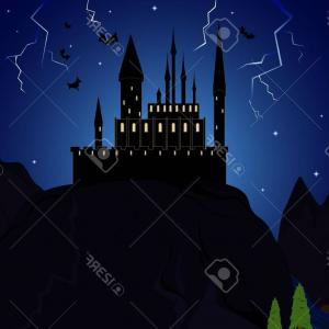 Vectors Fortress Flying: Stock Illustration Castle Illustration Birds Image
