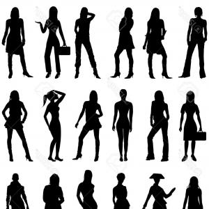 Free Vector Business Silhouettes: Photovector Illustration Of People Silhouettes Business Casual And Formal