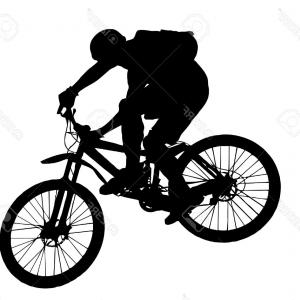 Mountain Bike Silhouette Vector: Bike Silhouette Vector