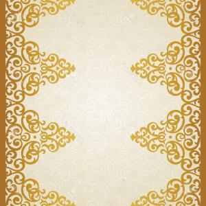 Gold Ornate Borders Vector: Art Deco Frame Border Ornate Gold Decoration Vintage Vector Illustration Bgeqpsnrmjhccif