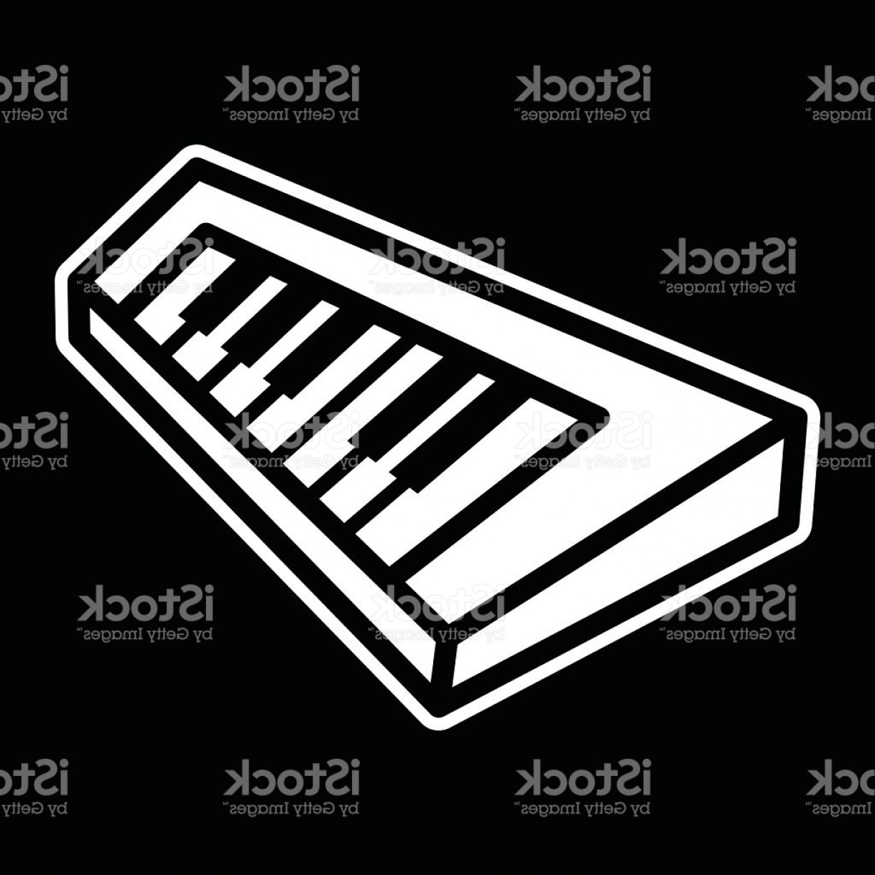 Musical Keyboard Vector: Piano Keyboard Musical Instrument Vector Icon Gm