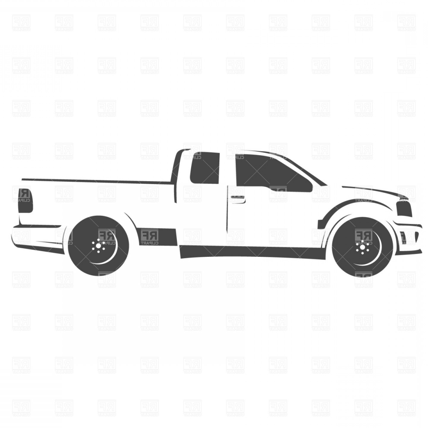 Vector Pick Up: Pick Up Truck Drawing Vector Clipart