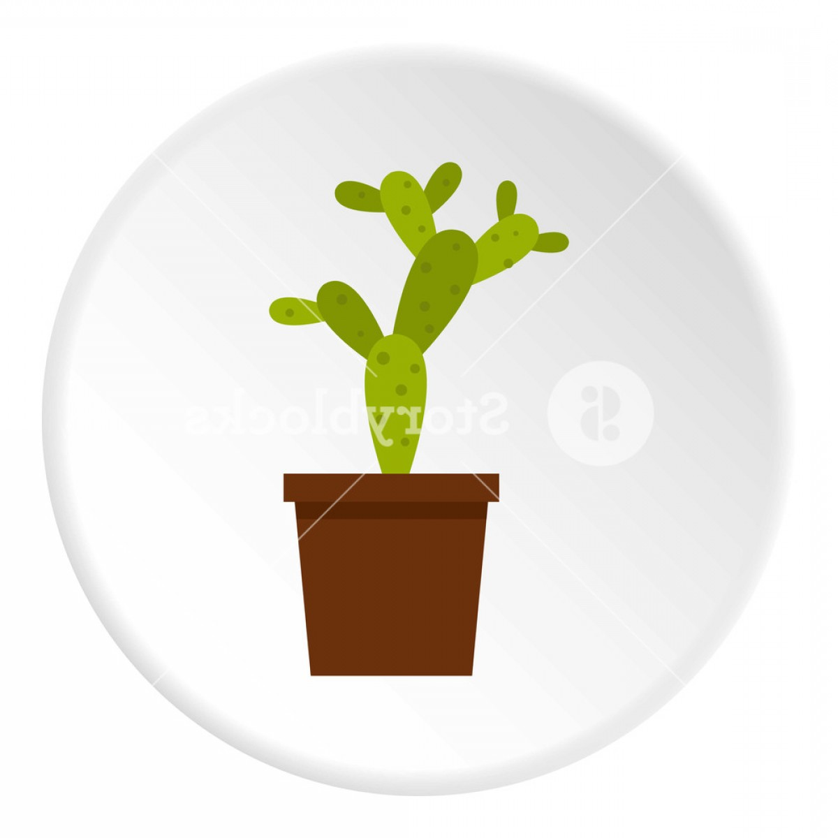 Chocolate Vector Plant: Piece Of Cake With Chocolate Cream Icon In Flat Circle Isolated On White Vector Illustration For Web Rxzolopwzmjiglpwcs