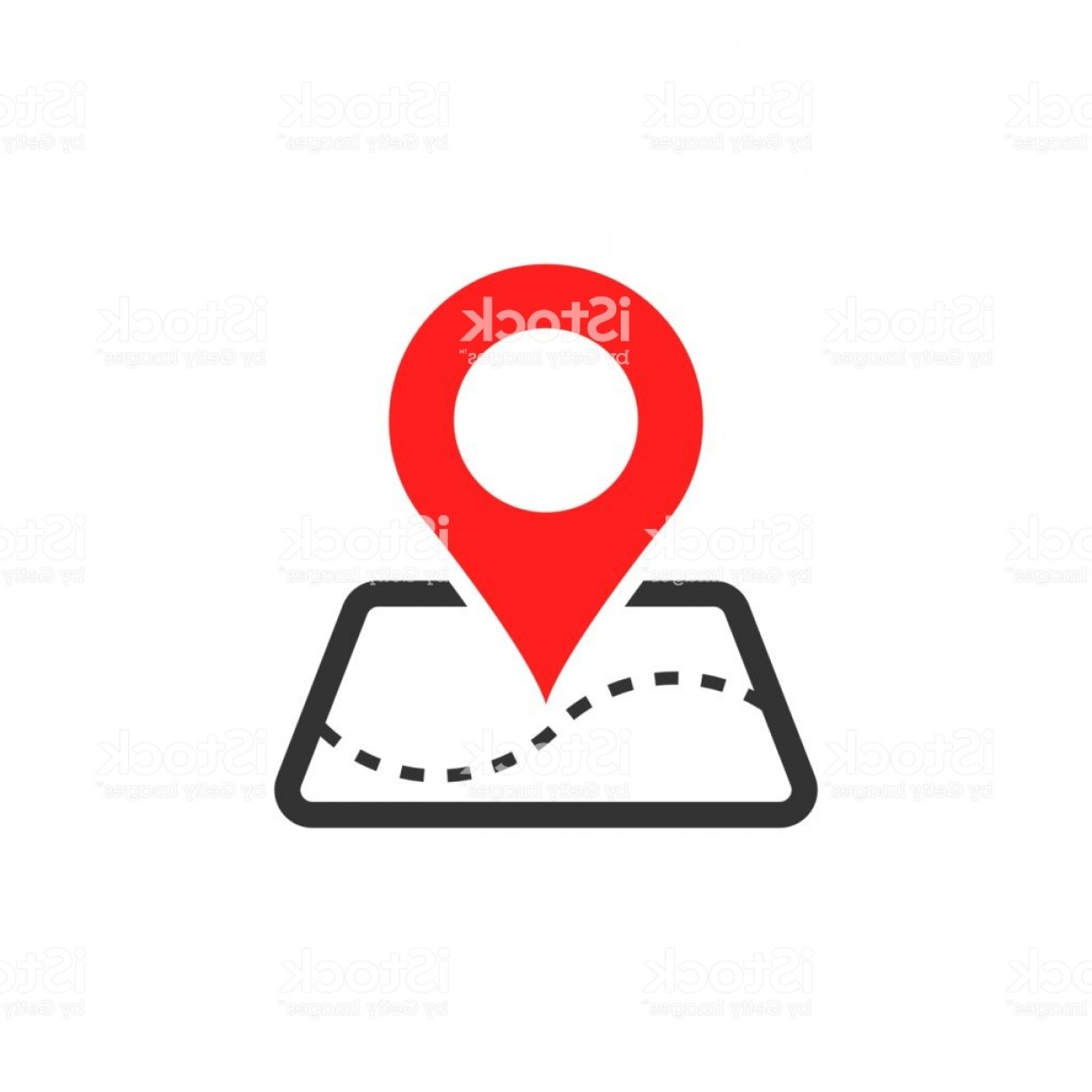 Navigation Vector: Pin Map Icon In Flat Style Gps Navigation Vector Illustration On White Isolated Gm