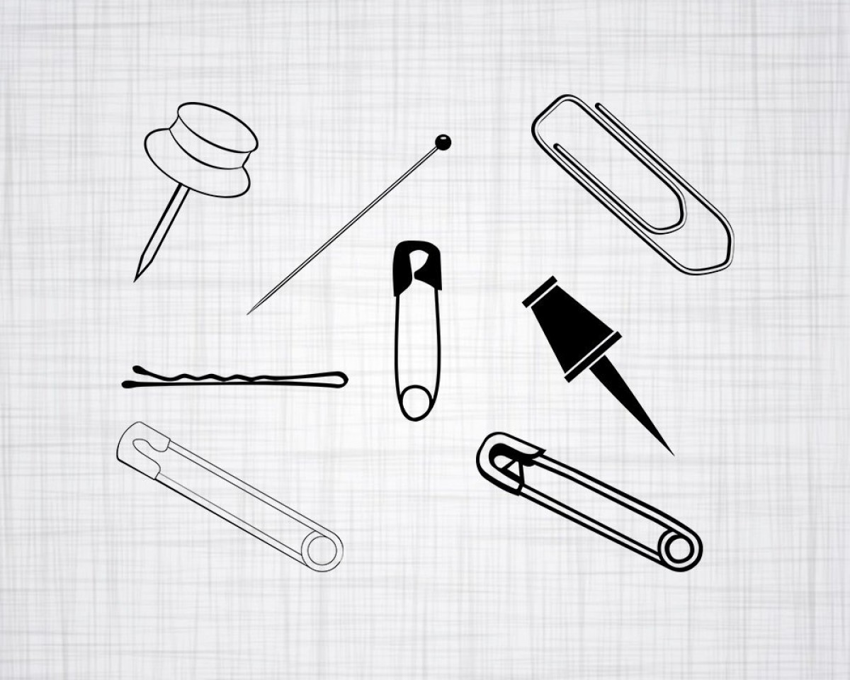 Vector Safety Pin: Pin Svg Bundle Pin Svg Clipart Pin Cut