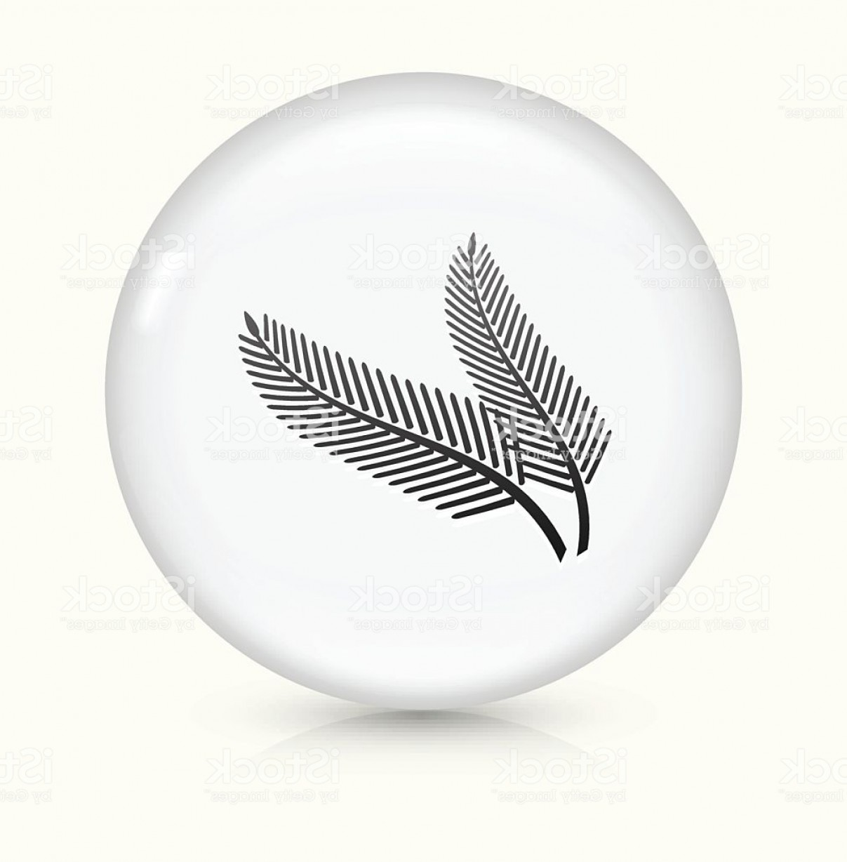 Pine Leaf Vector: Pine Leaf Icon On White Round Vector Button Gm