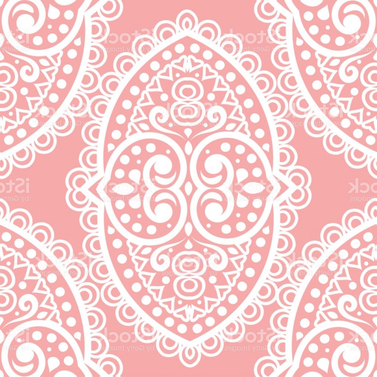 Aqua Victorian Medallions Vectors: Pink And White Vintage Vector Seamless Pattern Wallpaper Elegant Classic Texture Gm