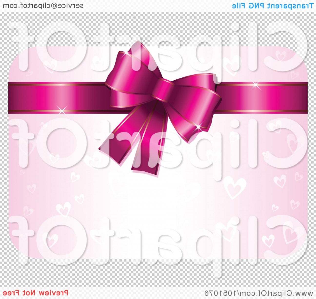 Victoria's Secret Pink Vector: Pink Heart Valentine Gift Card With A Bow