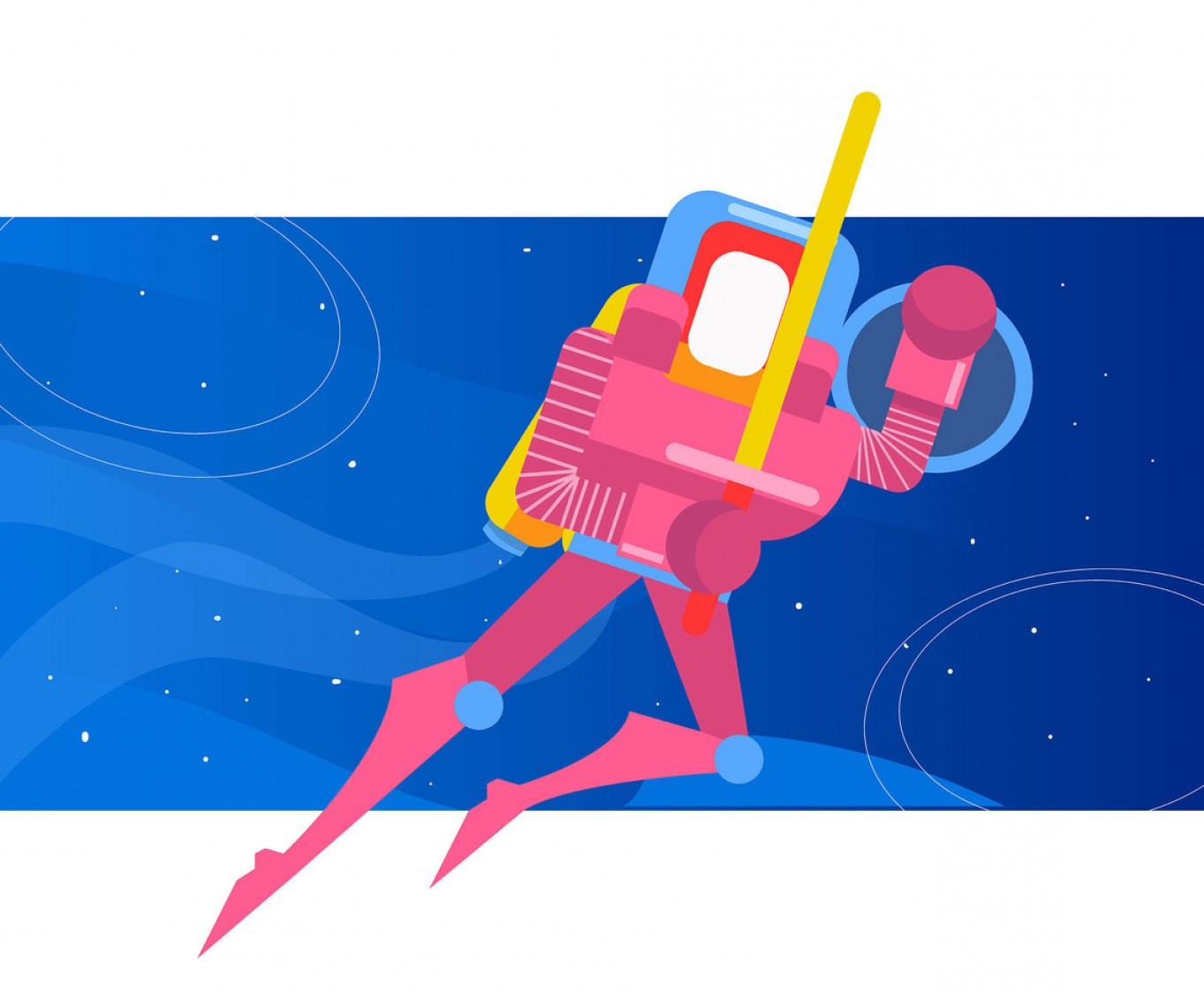Syfi Silhouette Vector: Pink Outer Space Knight Vector