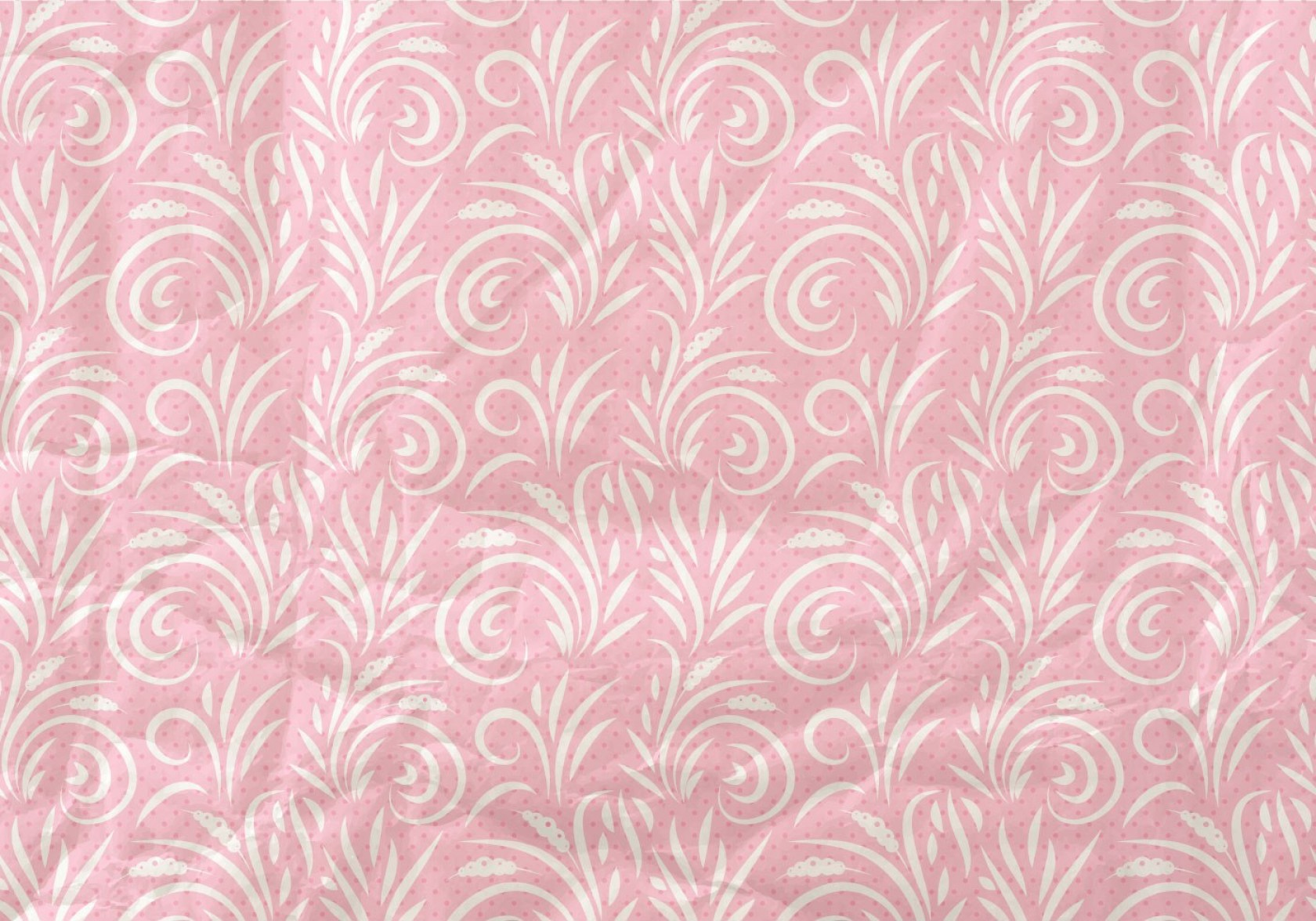 Vector Flourish Backgrounds: Pink Vector Western Flourish Seamless Pattern