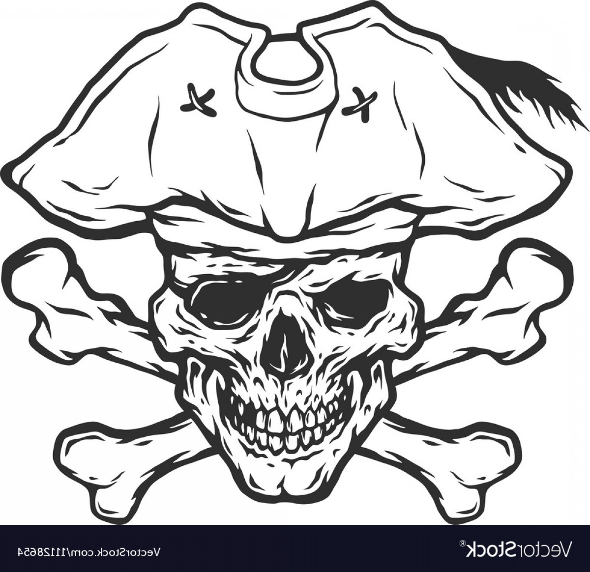Skull ND Crossbones Vector: Pirate Skull And Crossbones Vector