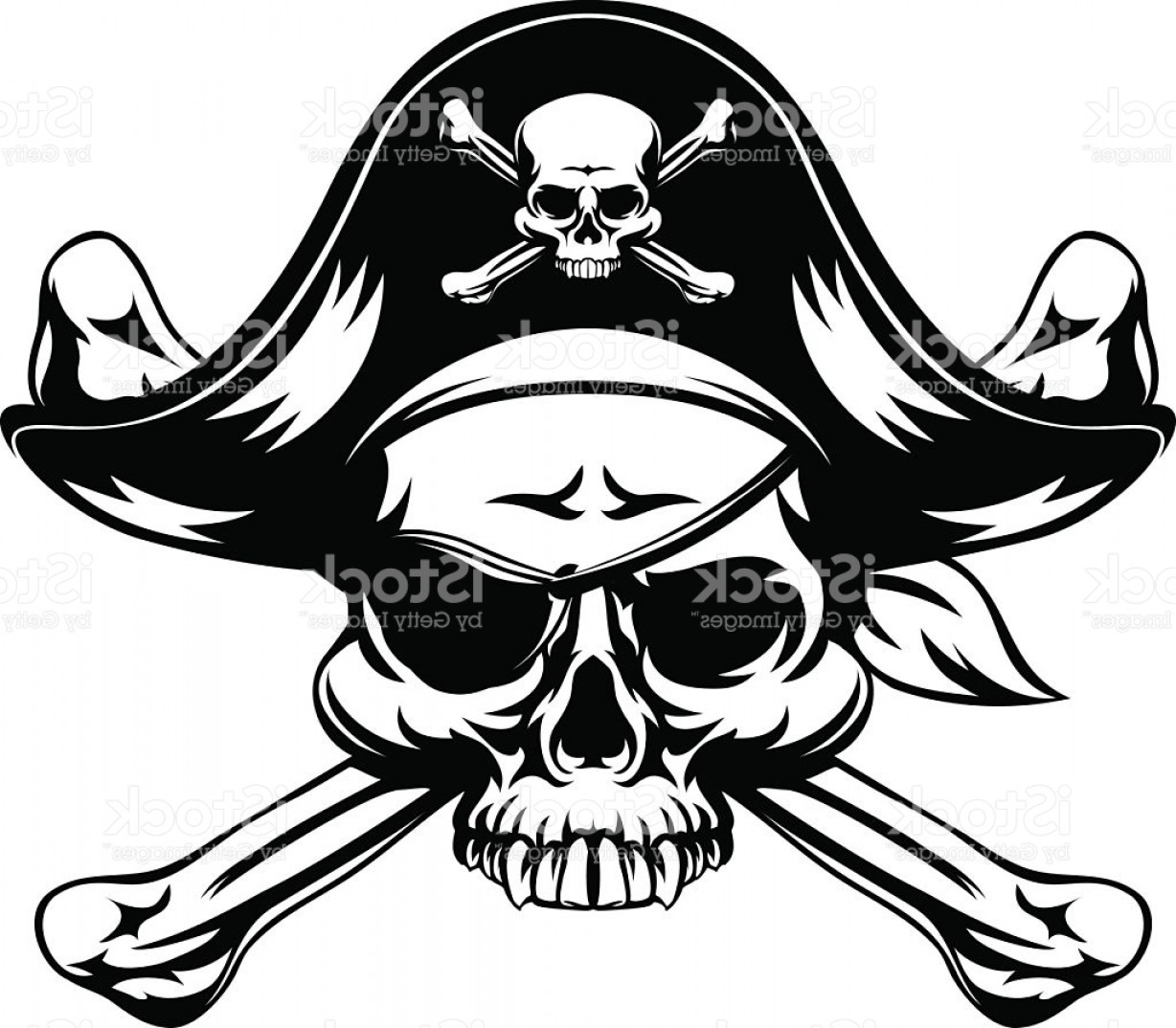 Skull ND Crossbones Vector: Pirate Skull And Crossed Bones Gm